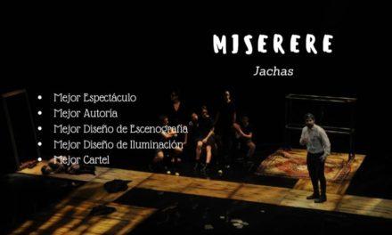 5 NOMINACIONES en los prestigiosos «Premios Juan Mayorga de las Artes Escénicas»
