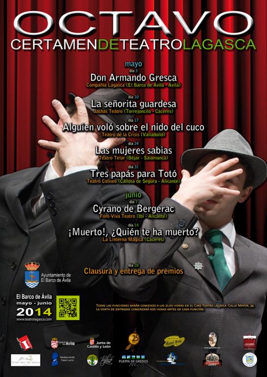 """Debut de Miguel Arias como actor principal y Virginia Testón en la técnica en el """"VIII Certamen de Teatro Lagasca"""" (El Barco de Ávila)"""
