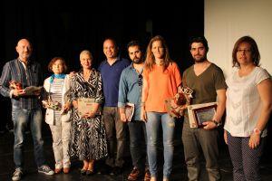 Pedro Luis, Mara y Mané recogieron los premios otorgados a Jachas Teatro - CEDIDA