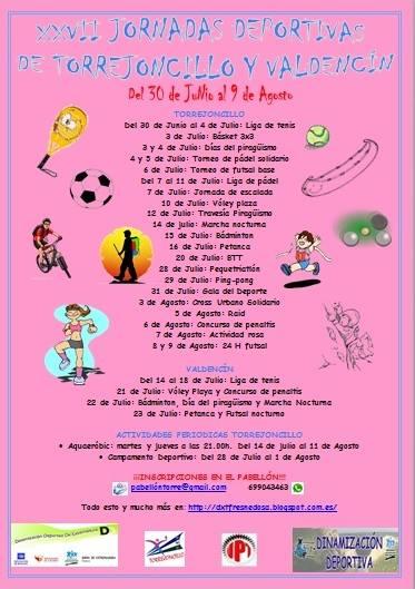 Comienzan las Jornadas Deportivas Torrejoncillo-Valdencin 2014