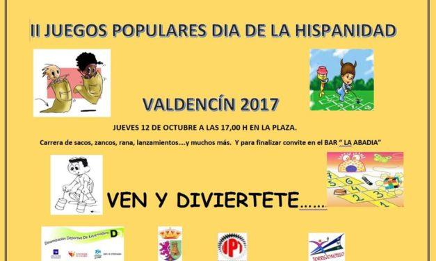 II Juegos Populares de Valdencin