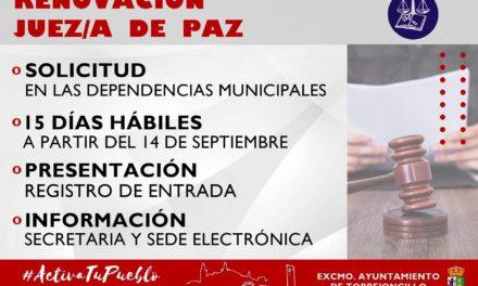 RENOVACIÓN JUEZ/A DE PAZ EN TORREJONCILLO