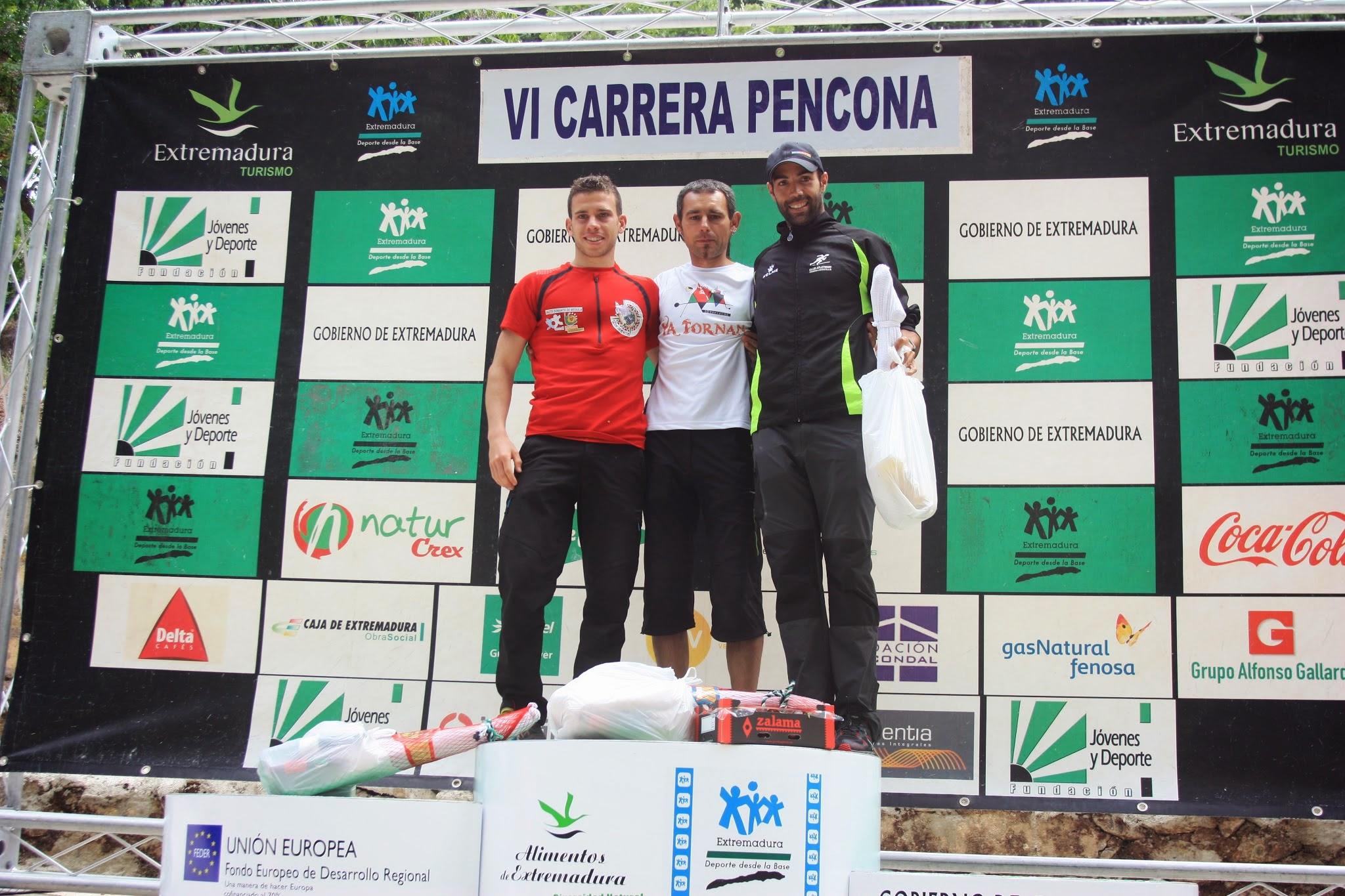 Álvaro García (2º), Javi González (1º) y Kiko Lázaro (3º) completaron el podio - WEB OFICIAL DE LA PRUEBA