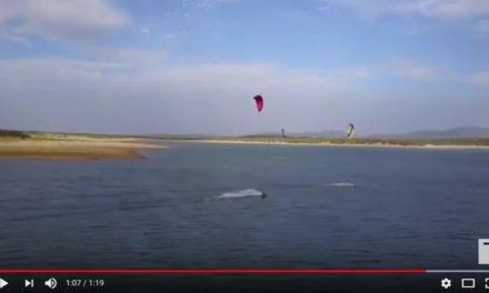 Kitsurf en el Pantano de Portaje-Torrejoncillo