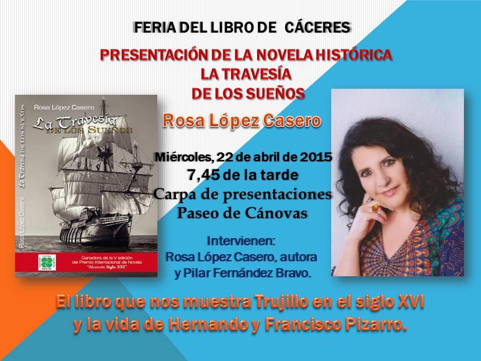 Rosa López Casero estará presente en la Feria del Libro de Cáceres