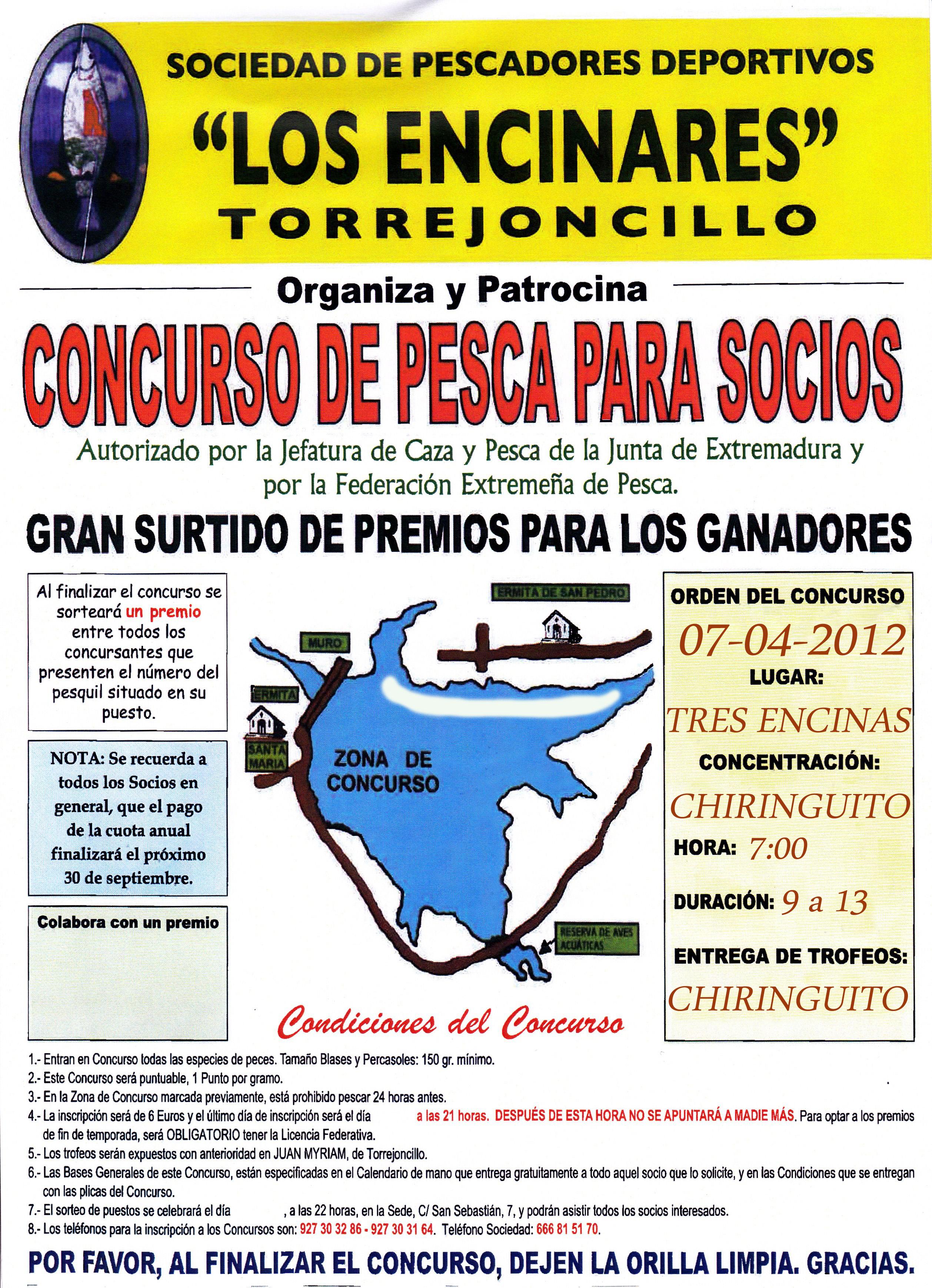 """Concurso de pesca """"La Romería"""" de la Sociedad Deportiva """"Los Encinares"""""""
