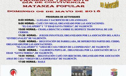 Matanza Popular  con motivo del 50º Aniversario de Valdencin