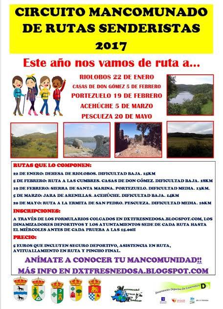 Circuito Mancomunado de Rutas Senderistas 2017