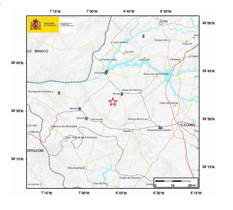 El terremoto con epicentro en Brozas, se siente en la comarca Rivera de Fresnedosa