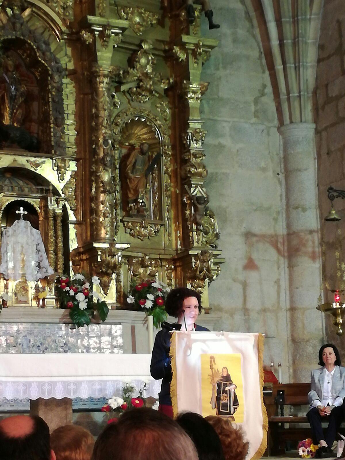 María José Vergel Vega pregonó a San Benito en Cañaveral