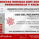 NUEVAS MEDIDAS ANTI-COVID 19 EN TORREJONCILLO Y VALDENCÍN