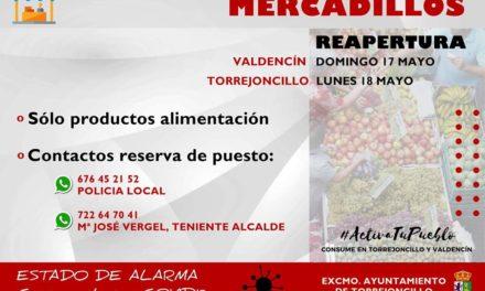 REAPERTURA DE MERCADILLOS