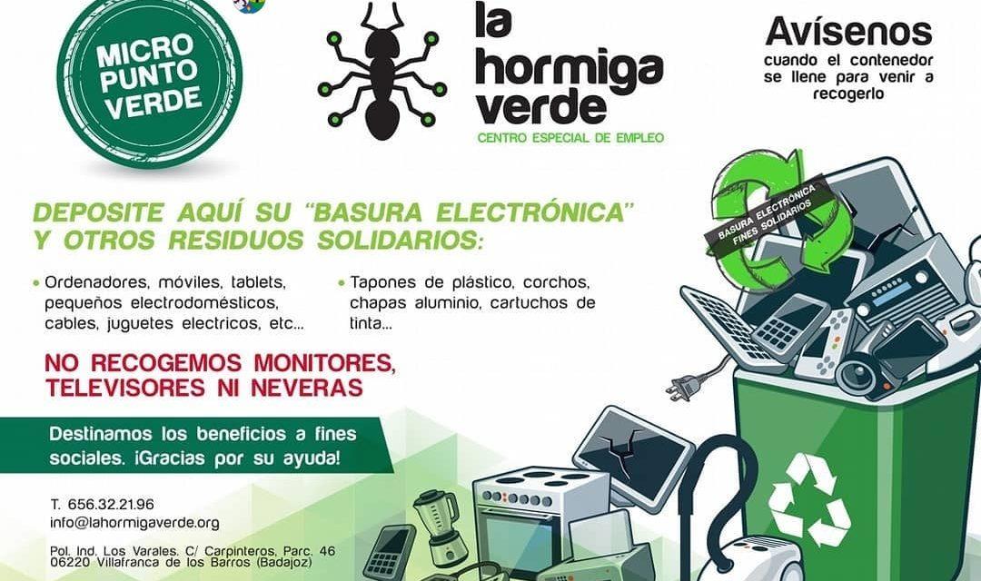 LA BASURA ELECTRÓNICA TAMBIÉN SE RECICLA