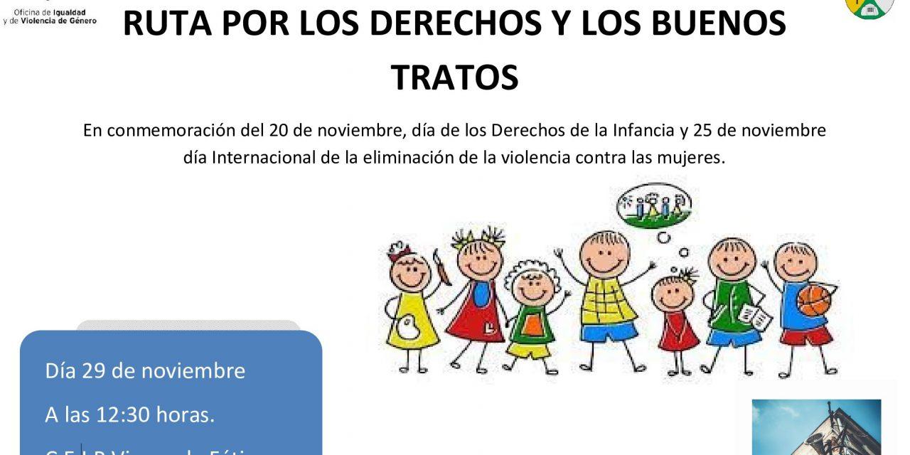 Ruta por los derechos y los buenos tratos en Casas de Don Gómez