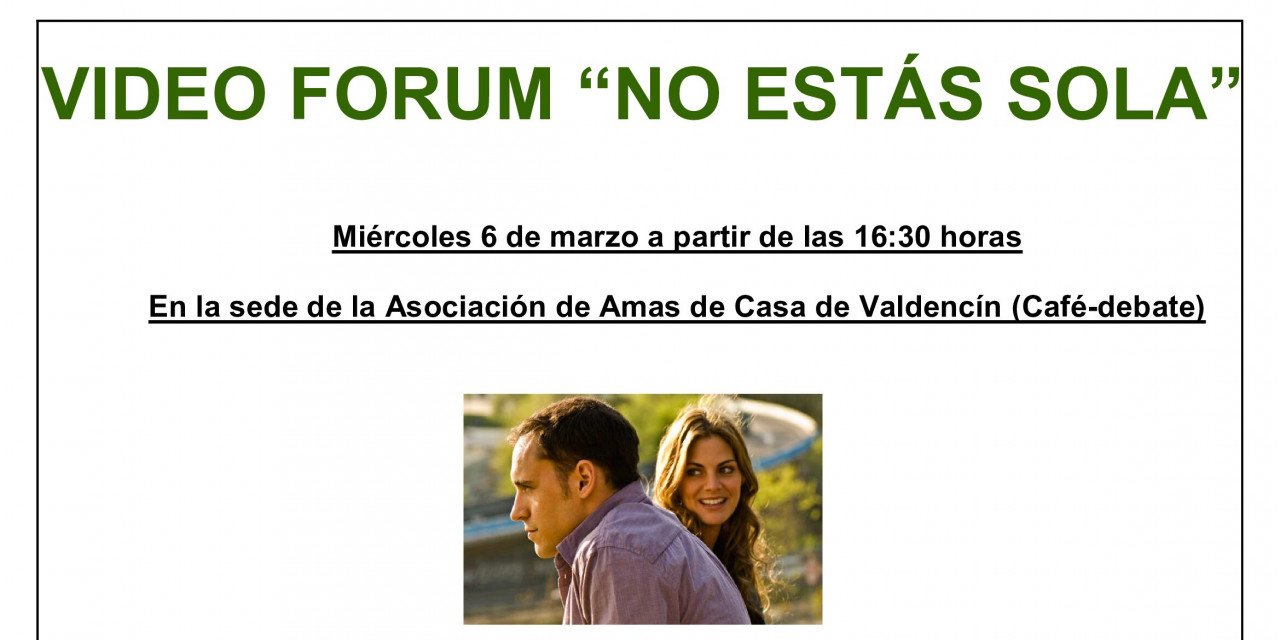 Video- Forum en Valdencín: «No estás sola»