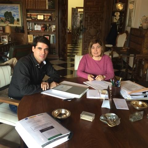 Reunión de trabajo del Alcalde con la Presidenta de Diputación