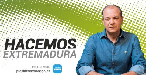 Jose Antonio Monago presentará en Torrejoncillo a los candidatos del Partido Popular de la Comarca