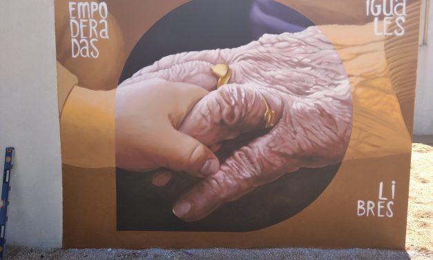 Mural reivindicativo por la Igualdad y los Buenos Tratos en Zarza la Mayor
