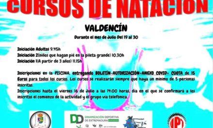 CURSOS DE NATACIÓN EN VALDENCÍN.