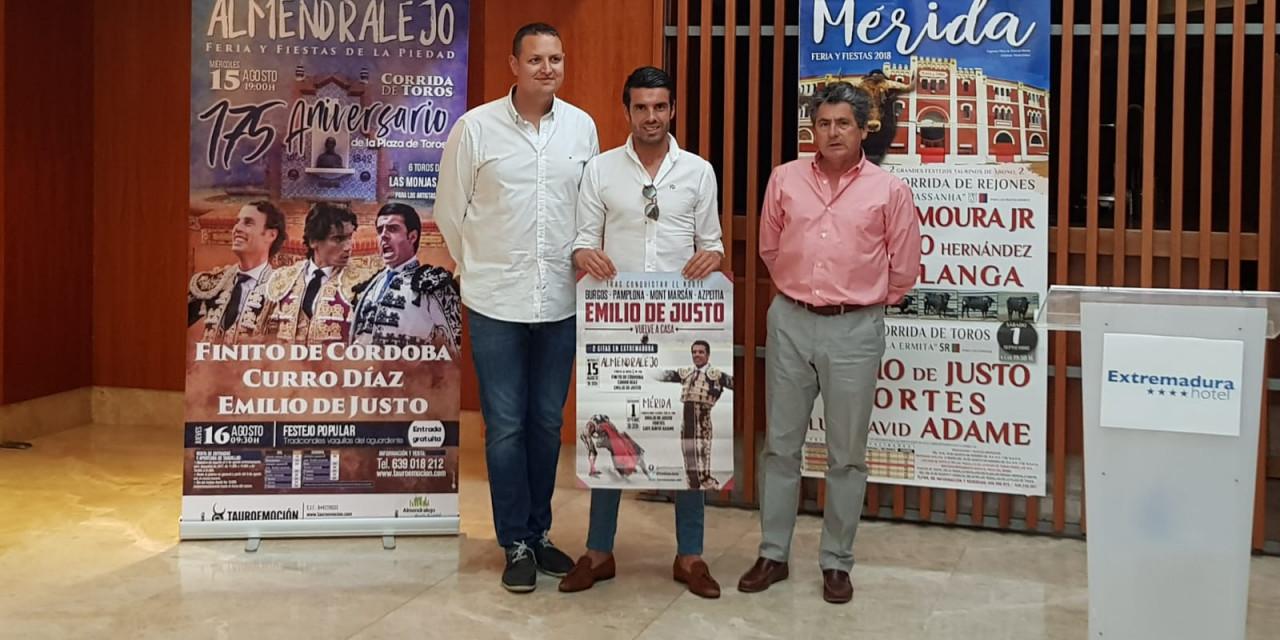 Emilio de Justo invitará a 200 jóvenes a los toros