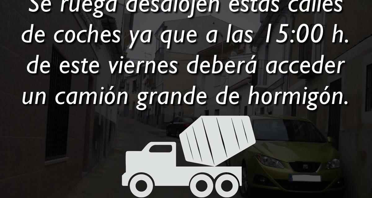 PROHIBIDO APARCAR EN LAS CALLES FRANCISCO MORENO Y MARGALLO