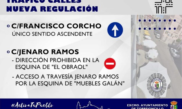 NUEVA REGULACIÓN DE TRÁFICO EN CALLES A PARTIR DE ESTE VIERNES
