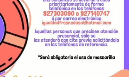 Atención al público de Igualdad Mancomunidad Rivera Fresnedosa