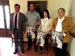 Samuel Fernández, Luis Mario Muñoz, Esther Gutiérrez y Félix Padilla, en la presentación de la ruta - EUROPA PRESS