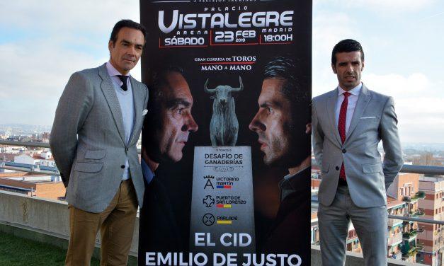 EL CID Y EMILIO DE JUSTO, MANO A MANO CON DESAFÍO DE GANADERÍAS EN VISTALEGRE