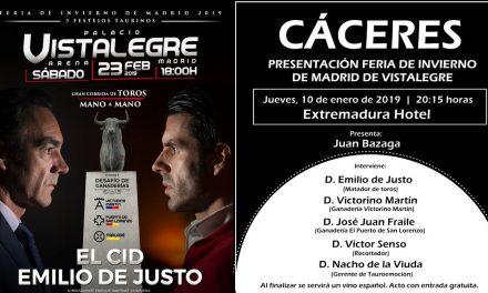 La Feria de Invierno de Madrid se presentará en Cáceres
