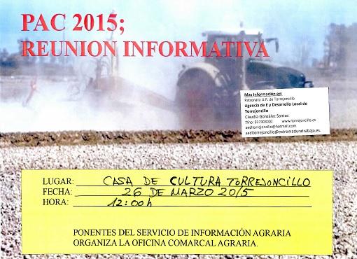 Charla sobre las ayudas PAC 2015 en Torrejoncillo