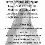 Asamblea General Ordinaria de Asociación Paladines de la Encamisa