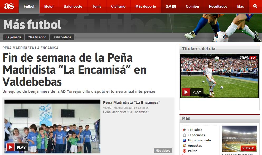 La información publicada en el Diario As Digital - ENLACE A LA NOTICIA
