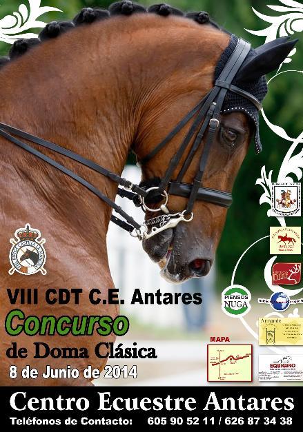 Pedro Emilio Serrano gana el VIII Concurso CDT Antares de Doma Clásica