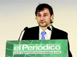 Pedro Mallo, gerente de Jamones y Embutidos Mallo, empresario extremeño del año 2013 - CEDIDA