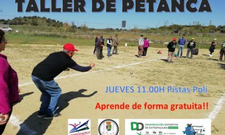 Mañana arranca el taller de Petanca