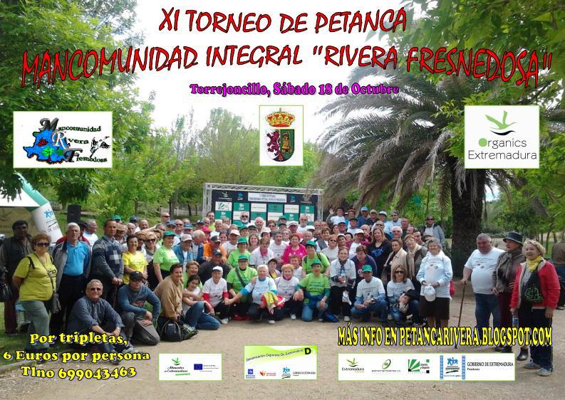 El XI Torneo de Petanca Mancomunado, el próximo 18 en Torrejoncillo