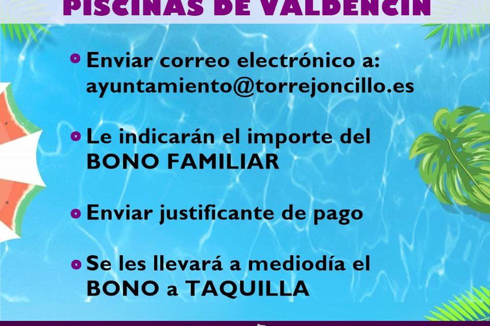 BONOS FAMILIARES PARA LAS PISCINAS DE VALDENCÍN