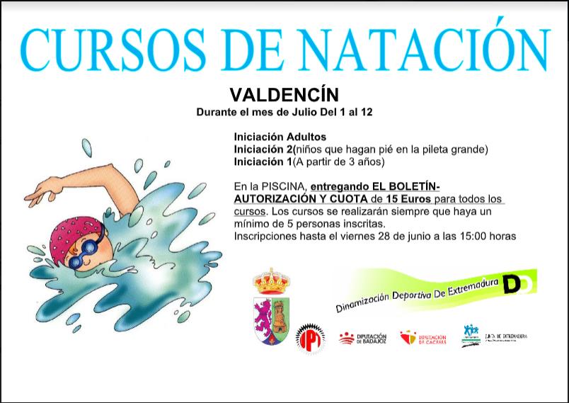 Curso de natación en Valdencin