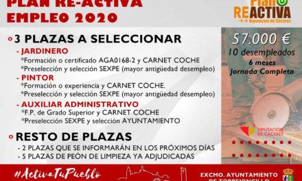 SELECCIÓN DE TRES PLAZAS DEL PLAN RE-ACTIVA EMPLEO 2020
