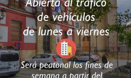 APERTURA AL TRÁFICO DE LA PLAZA MAYOR DE TORREJONCILLO