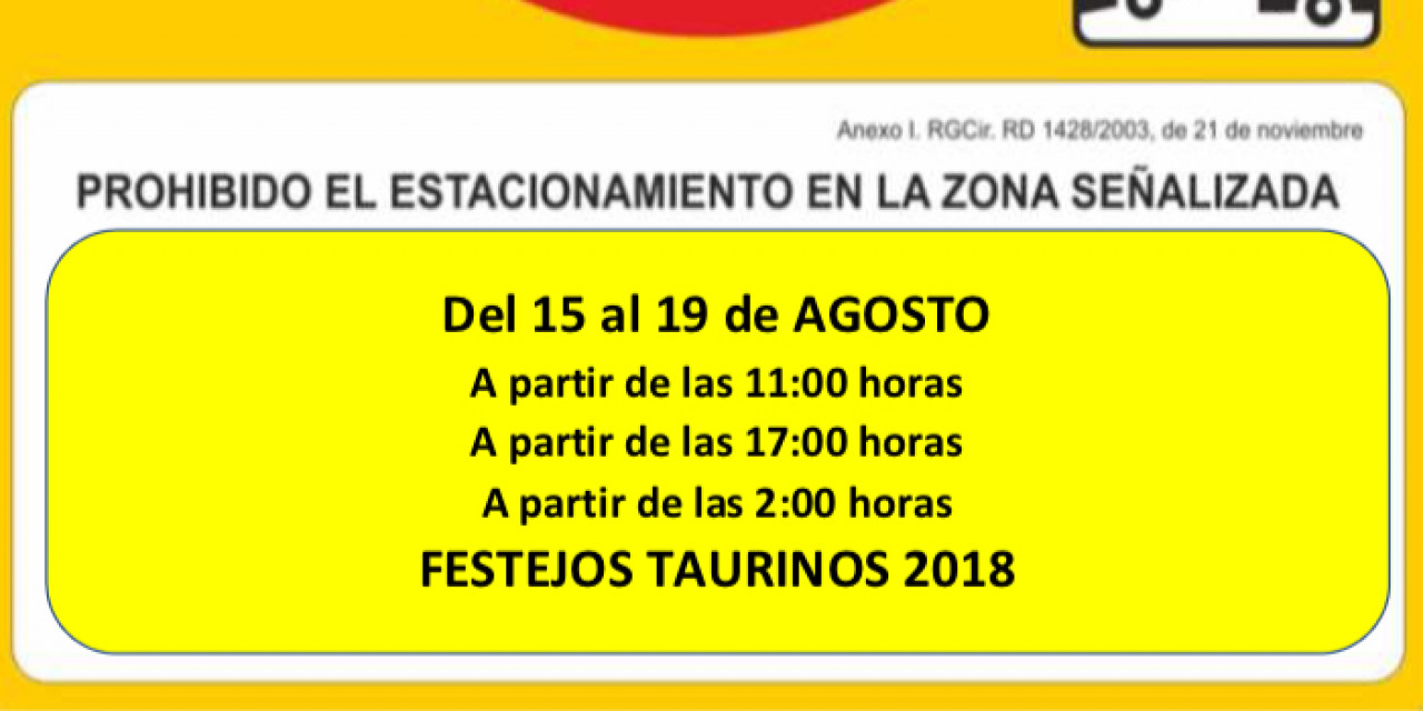 Señalización Festejos Taurinos 2018