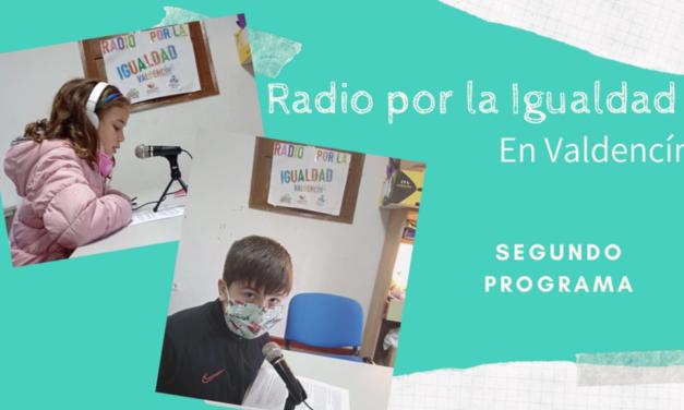 Se emite el segundo programa de Radio por la Igualdad en Valdencín