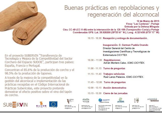 Jornadas sobre aprovechamiento del alcornocal en Portaje
