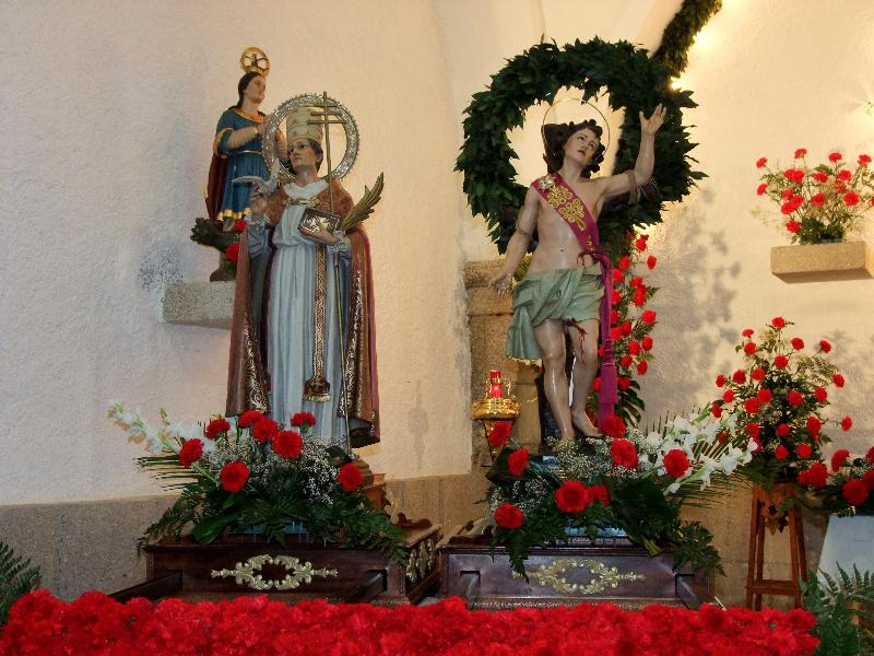 Ocho horas estuvieron los santos mártires de casa en casa en Portezuelo