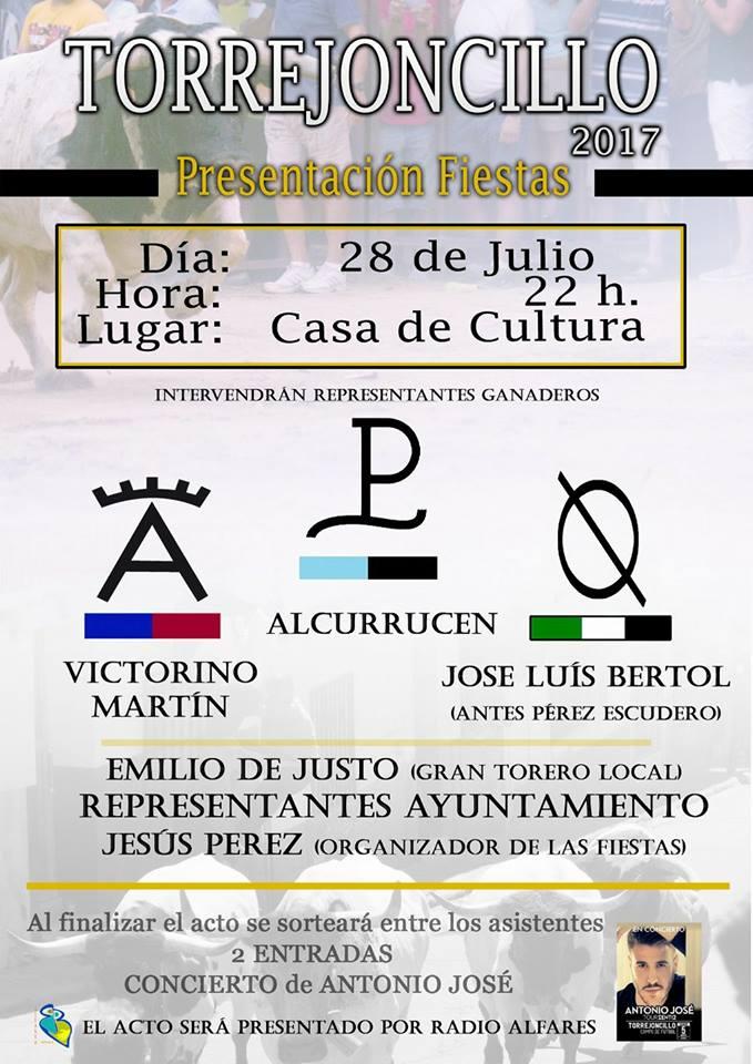 Presentación Fiestas de Torrejoncillo 2017