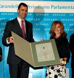 El príncipe Felipe y el periodista republicano