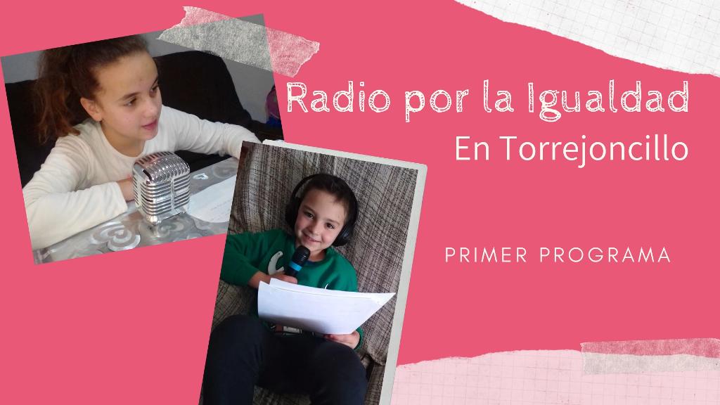 Escolares de Torrejoncillo emiten su primer programa de radio sobre la igualdad