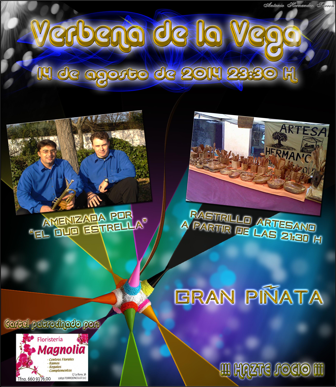 Mercadillo nocturno y gran piñata novedades en la Verbena de la Vega 2014