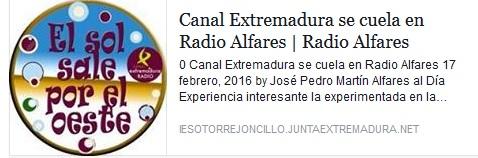 Canal Extremadura se cuela en Radio Alfares
